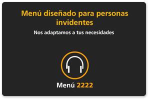 Menús especiales para ciegos y baja visión cajeros de CaixaBank