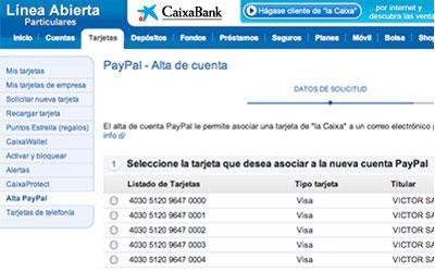 C mo abrir tu cuenta paypal tarjetas caixabank for La caixa oficina internet