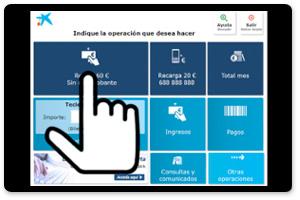 Men operaciones habituales cajeros caixabank for Buscador de cajeros