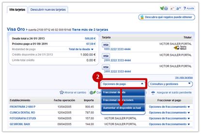 Avanzar Pago Tarjeta De Crédito Caixabank